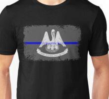Blue Line Louisiana State Flag Unisex T-Shirt