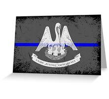 Blue Line Louisiana State Flag Greeting Card
