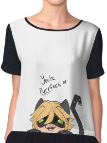 You're Purrfect Chat Noir Chiffon Top