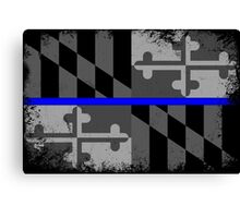Blue Line Maryland State Flag Canvas Print