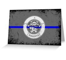 Blue Line Minnesota State Flag Greeting Card