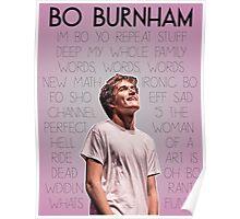 Bo Burnham Song titles Poster