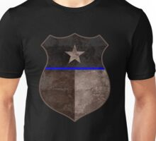 Thin Blue Line Texas Flag Police Badge Unisex T-Shirt