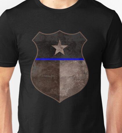 Thin Blue Line Texas Flag Police Badge Unisex T-Shirt
