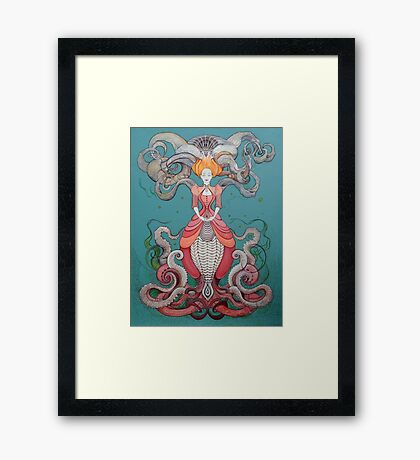 Lady Octopus Framed Print