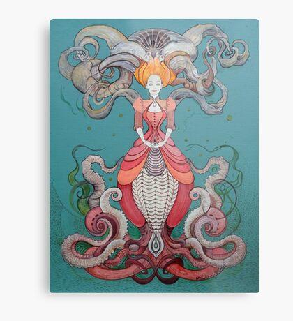 Lady Octopus Metal Print