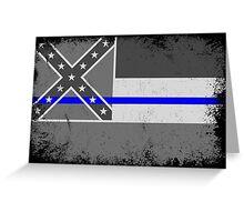 Blue Line Mississippi State Flag Greeting Card