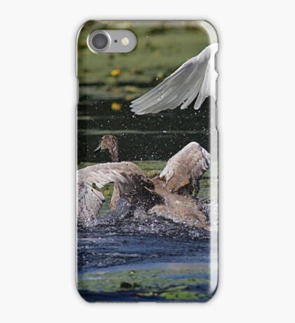 Running across the pond iPhone Case/Skin
