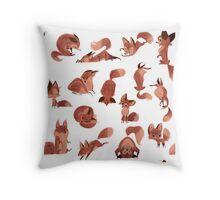 Lost of Red Foxes-Pattern Throw Pillow