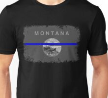 Blue Line Montana State Flag Unisex T-Shirt