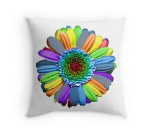 flowers multicolors Throw Pillow