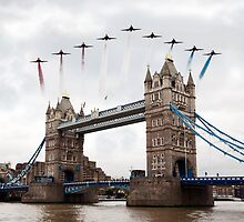 Reds over Tower Bridge by James Biggadike