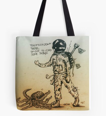 Off To Find Some Space Tote Bag