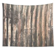 Rusted Corrugated Metal Texture Wall Tapestry