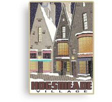 Hogsmeade Village Travel Poster Canvas Print