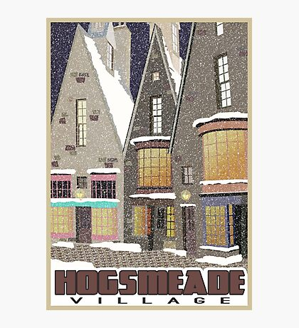 Hogsmeade Village Travel Poster Photographic Print