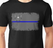 Blue Line Nevada State Flag Unisex T-Shirt