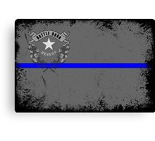 Blue Line Nevada State Flag Canvas Print