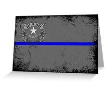 Blue Line Nevada State Flag Greeting Card