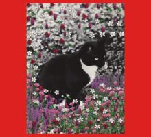 Freckles in Flowers II - Tuxedo Cat Kids Clothes