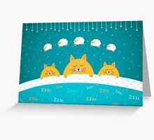 ZZZzzz - Sleeping Cats  Greeting Card