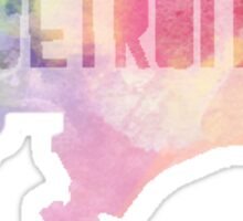 Detroit Watercolor Sticker