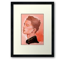 Male Portrait Framed Print
