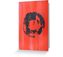 Red Record Greeting Card