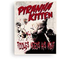Piranha Kitten Canvas Print