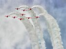 Looping In The Skies - The Red Arrows Farnborough 2014 by Colin  Williams Photography