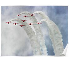 Looping In The Skies - The Red Arrows Farnborough 2014 Poster