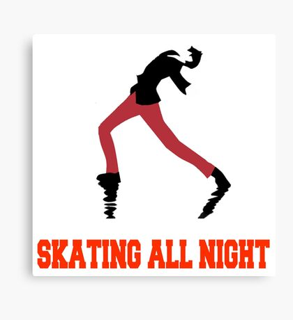 Skating All Night Canvas Print