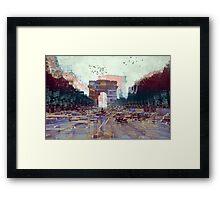 Parisian Mosaic - Piece 25 - Les Champs-Élysées Framed Print