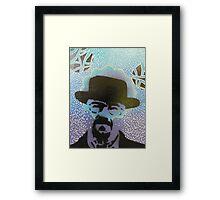 Stencil Blue Framed Print