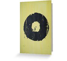 Yellow Record Print Greeting Card