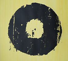 Yellow Record Print by RobinLeverton