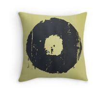 Yellow Record Print Throw Pillow