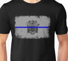 Blue Line New Jersey State Flag Unisex T-Shirt