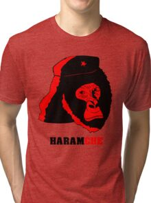Harambe- Haramche Red Tri-blend T-Shirt