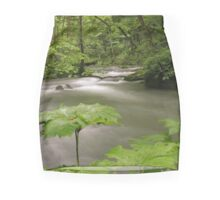 Luxuriant vegetation by a flowing river in Japan Mini Skirt