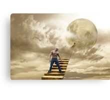 THERE'S A MAN ON THE MOON Canvas Print