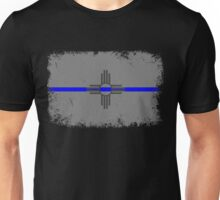 Blue Line New Mexico State Flag Unisex T-Shirt