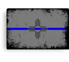 Blue Line New Mexico State Flag Canvas Print