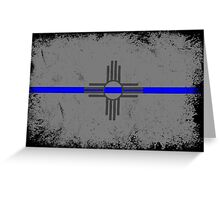 Blue Line New Mexico State Flag Greeting Card