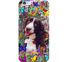 Lady in Butterflies - Brittany Spaniel iPhone Case/Skin