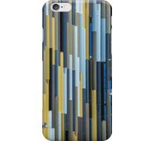 Blue and Yellow Shutters Modern iPhone Case/Skin
