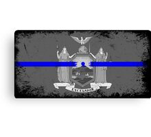 Blue Line New York State Flag Canvas Print
