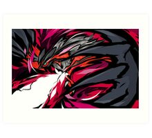Yveltal   Oblivion Wing Art Print