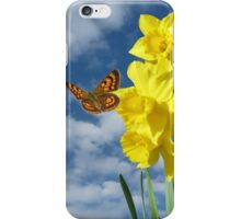Copper Butterfly with Daffodils  iPhone Case/Skin