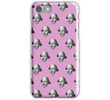 Shakespeare Etching Pattern (Pink) iPhone Case/Skin